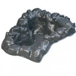 Lotus Header Pool Waterfall (Black finish)