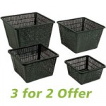 Ubbink Medium Square Planting Basket 24x15cm – 3 Pack