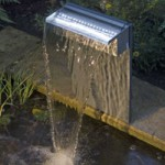 Ubbink Niagra Stainless Steel Waterfall 30cm WITH LED LIGHTS