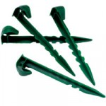 Weed Control Plastic Fabric Pegs x 10