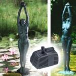 Bermuda Sophia Pondside Statuette + Pondshower 2000 Pond Pump