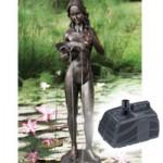 Bermuda Joanna Statue + Pondshower 2000 Pond Pump