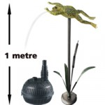 Bermuda Flying Frog Spitter with pond pump