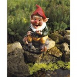 Bermuda Gone Fishing Pond Gnome