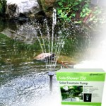 PondXpert SolarShower 250 with Battery & LED