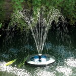 PondXpert SolarShower Float with Battery & LED